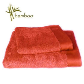 Serviette de toilette coton/Bambou 50x100 cm - Orange